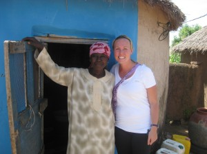 Fati and I outside of her house in Kasaligu