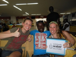 No more waiting in the airport for anyone! So happy to have our fellows all together!! Below is Sam, Peter & Kristen!