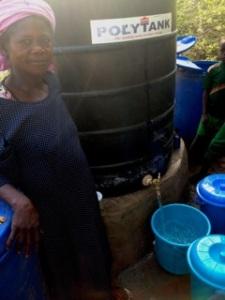 Sana selling water like a pro!