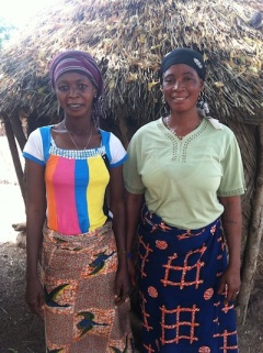 Memouna and Damu - The women entrepreneurs of the newly implemented Tindan (not to be confused with the Tindan implemented in October)