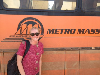 Posing with my favorite logo. Metro Mass: Moving the Nation