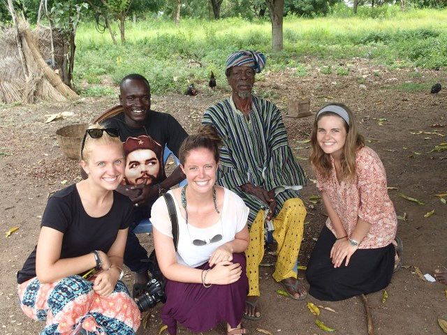 Carole Anne, Peter, Lilly, and Taylor with the chief of Kideng