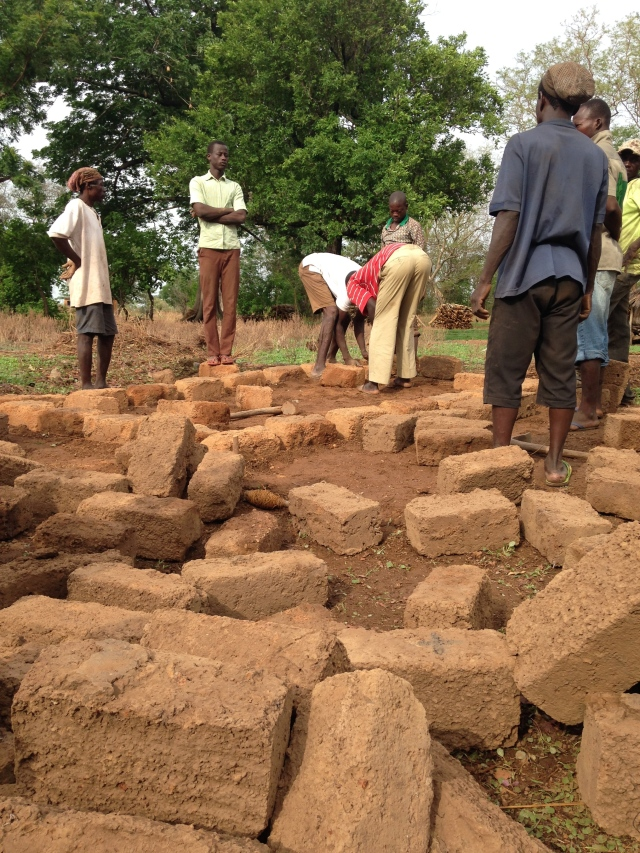 Gathering bricks