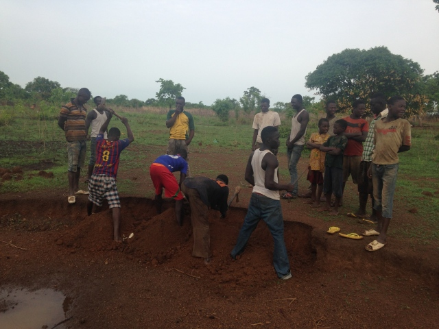 Preparing the gravel to build the solar center