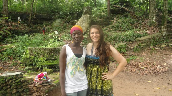 Kelly and our translator, Sharifa!