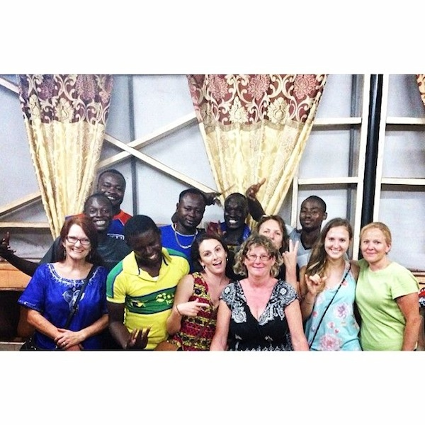 My family comes to visit in April and hangs with the staff at How Cool Joint in Tamale. Ow ow!